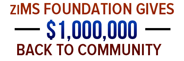 ziMS foundation gives back $1,000,000 back to community