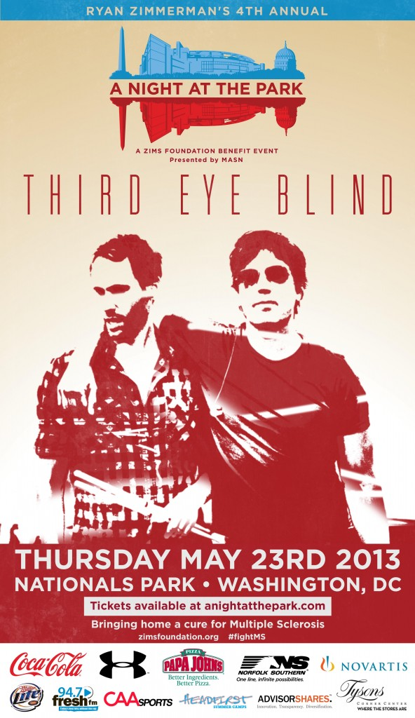 Third Eye Blind - Nats Park - ziMS Foundation Benefit Event - May 23rd